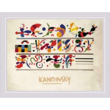 Cross stitch kit Succession after W. Kandinsky's composition - RIOLIS