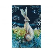 Cross stitch kit Hare by Night - RTO