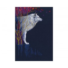 Cross stitch kit Wolf Leader
