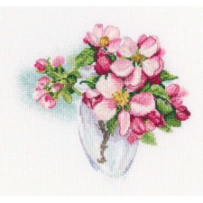 Cross stitch kit Bloomy twig - RTO