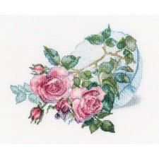 Cross stitch kit Tender flower buds - RTO