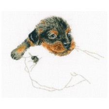 Cross stitch kit In Palms - Dog - RTO