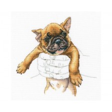 Cross stitch kit In Palms - French Bulldog - RTO