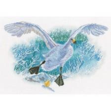 Cross stitch kit White Goose on the White Snow - RTO