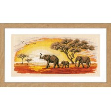 Counted cross stitch kit Elephants