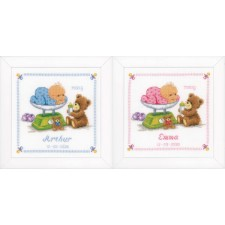 Counted cross stitch kit Baby & bear