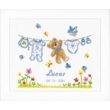 Counted cross stitch kit Birth bear
