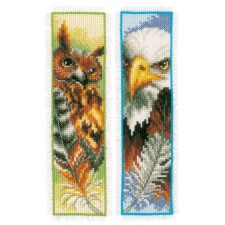 Bookmark kit Eagle & owl set of 2