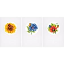 Greeting card kit Summer flowers set of 3