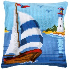 Cross stitch cushion kit Sailboat
