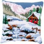 Cross stitch cushion kit Winter scenery