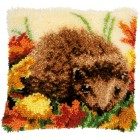 Latch hook cushion kit Hedgehog