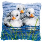 Latch hook cushion kit Ducklings in the water