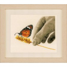 Counted cross stitch kit Hand & butterfly