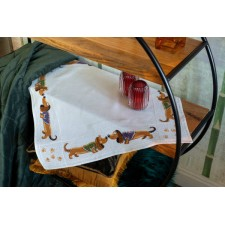 Aida tablecloth kit Dachshunds