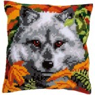 Cross stitch cushion kit Wolf