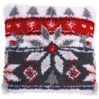 Latch hook cushion kit Scandinavian star
