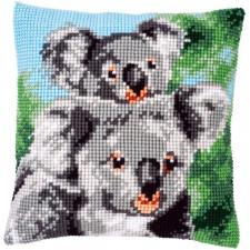 Cross stitch cushion kit Koala with baby