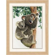 Counted cross stitch kit Koala with baby