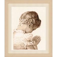 Counted cross stitch kit Praying girl