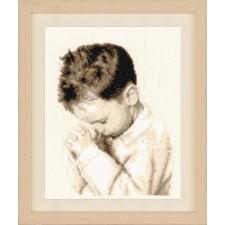 Counted cross stitch kit Praying boy