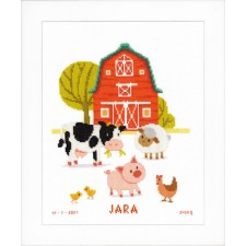 Counted cross stitch kit At the farm