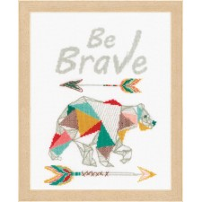 Counted cross stitch kit Be Brave