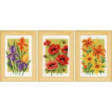 Miniature kit Summer flowers set of 3