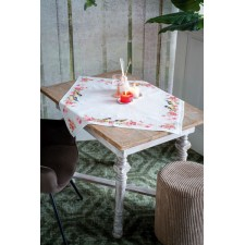 Aida tablecloth kit Birds and blossoms