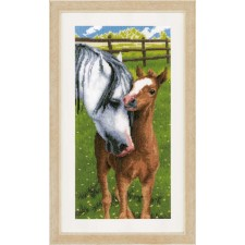 Counted cross stitch kit Horse & foal