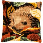 Cross stitch cushion kit Hedgehog