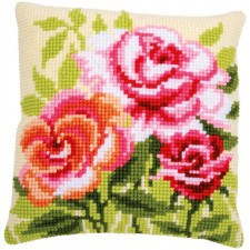 Cross stitch cushion kit Roses