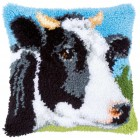 Latch hook cushion kit Cow