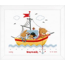 Counted cross stitch kit Boat sailing