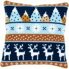 Cross stitch cushion kit Winter motifs