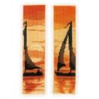 Bookmark kit Sailing at sunset set of 2