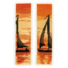 Bookmark kit Sailing at sunset set of 2