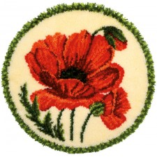Latch hook shaped rug kit Poppy