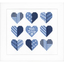 Counted cross stitch kit Hearts