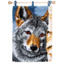 Latch hook rug kit Wolf