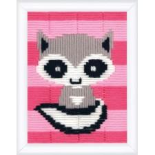 Long stitch kit Little raccoon