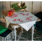 Tablecloth kit Christmas gnomes skiing