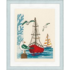 Counted cross stitch kit Sailboat