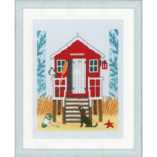 Counted cross stitch kit Beach cabin