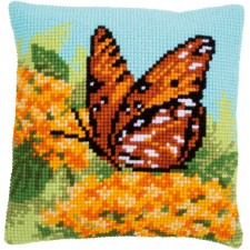 Cross stitch cushion kit Beauty of nature