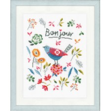 Counted cross stitch kit Flower bird