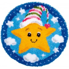 Latch hook shaped rug kit Little star