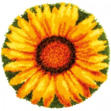 Latch hook shaped rug kit Sunflower