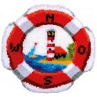 Latch hook shaped rug kit Lifebuoy