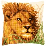 Cross stitch cushion kit Lion